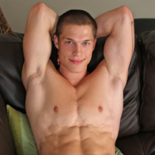 Mike – a smooth young lad and his big baseball bat!
