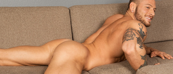 SeanCody Brennan solo tattoo earrings male feet close up blonde muscular type closeup cock featured