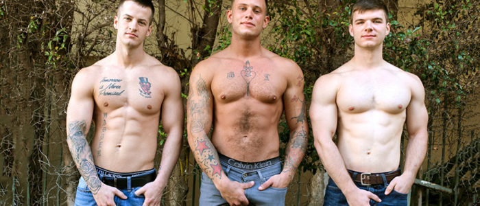 ActiveDuty bareback gay porn threesome tattoos male feet facial cum Quentin Gainz Ivan James Zack Matthews feat