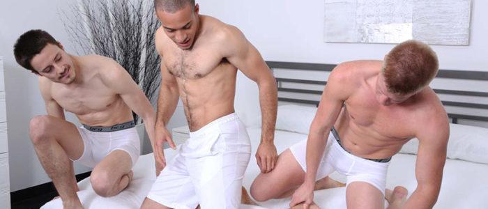 Antonio_Cervone_Gerard_Jonas_Bareback gay porn threesome uncut cock hairy chest Chaosmen feat