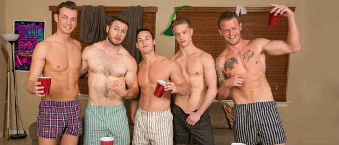 Reality Dudes - Dick Dorm - Flip Cup 2 Bareback Gay Porn Frat guys John Culver Ken feat