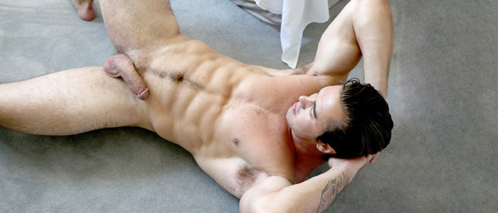 GayHoopla Richard Sutherland Big Muscle Jock Solo masturbation gay porn scene featured