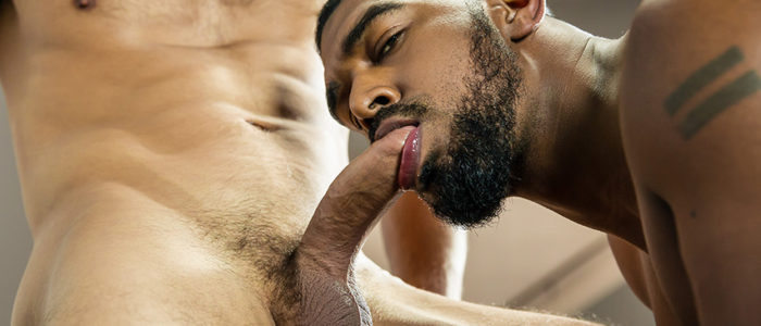 Men.com Gods of MEN Interracial Gay Sex Big Black Cock Uncut Cock Hairy Chest XL Fucked by Dato Foland feat