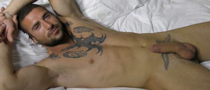 theguysite-tall-man-long-dick-derek-thibeau-big-uncut-cock-french-canadian-tattoos-solo-jerkoff-scene-feat