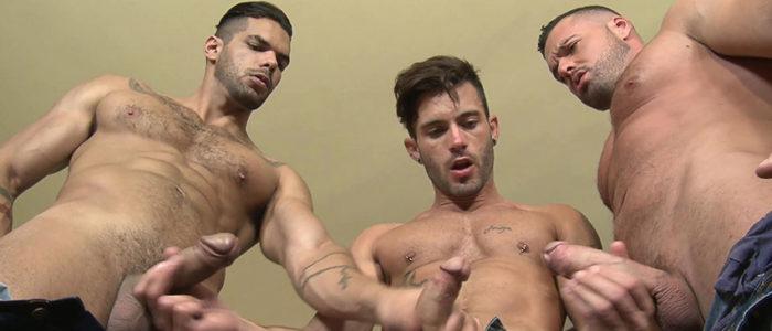 Kristen Bjorn Wild Seed Lucas Fox Gabriel Lunna, Andy Stars Threesome Gay Bareback Fuck Uncut Cocks Facial Hair Tall Short Men Spanish Studs feat