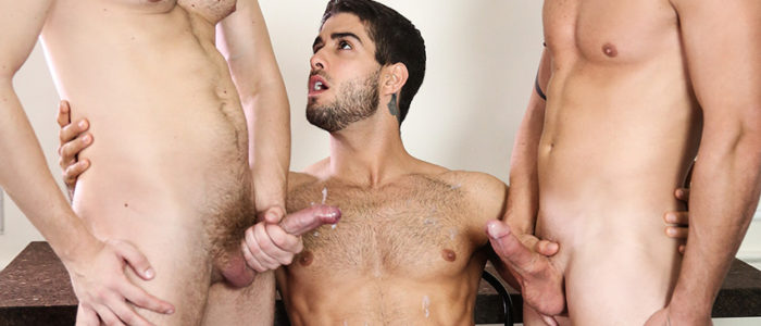 MEN Stealth Fuckers part 13 Threesome Gay Condom Sex Uncut Cock Darin Silvers Diego Sans Jacob Peterson feat