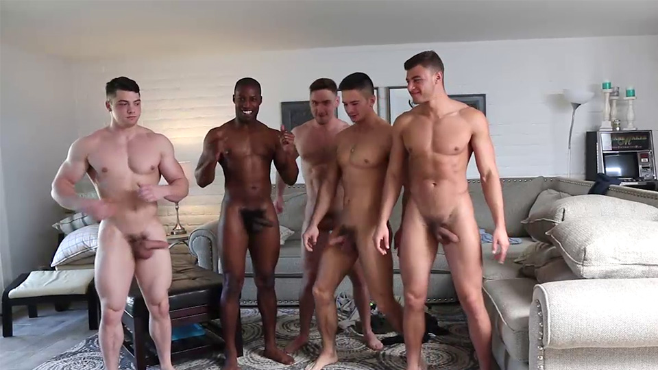 Studs stripping for gay groupsex