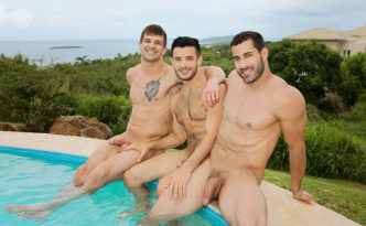 Sean Cody Puerto Rico Day 2 Randy Brysen Manny Gay Bareback Outdoor Fuck Beach Sex Threesome Big Uncut Cock Male Feet Soles feat
